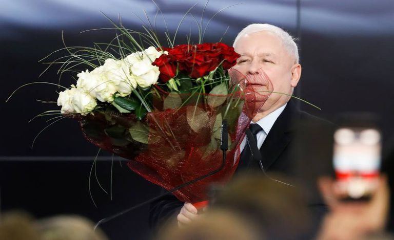 Kaczynski, depois de conhecer os resultados.