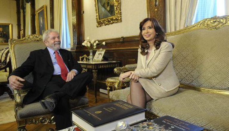 Lula na Casa Rosada com Cristina Kirchner.