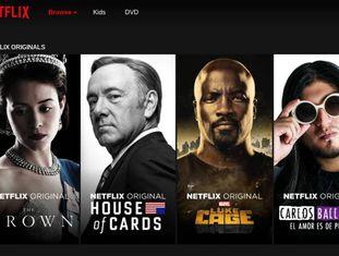 Página de abertura da Netflix com alguns lançamentos recentes.