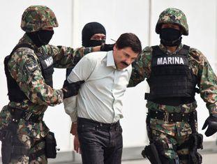 O Chapo Guzmán, durante sua detenção em fevereiro de 2014.