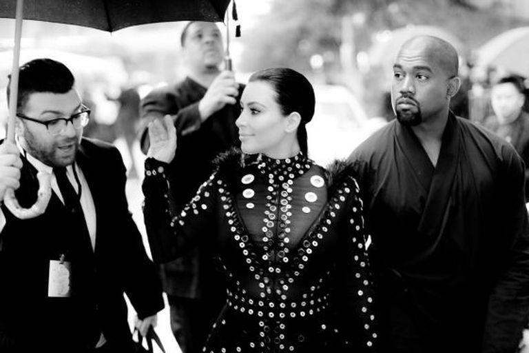 Kim Kardashian e Kanye West em Nova York.