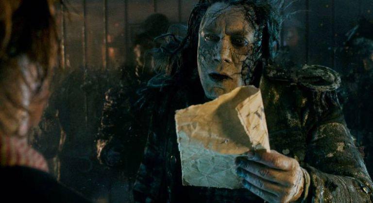 Javier Bardem, em uma cena de Piratas do Caribe: A Vingança de Salazar.