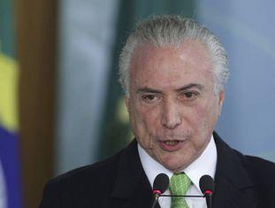 Michel Temer em cerimônia no Palácio do Planalto no dia 5 de junho.