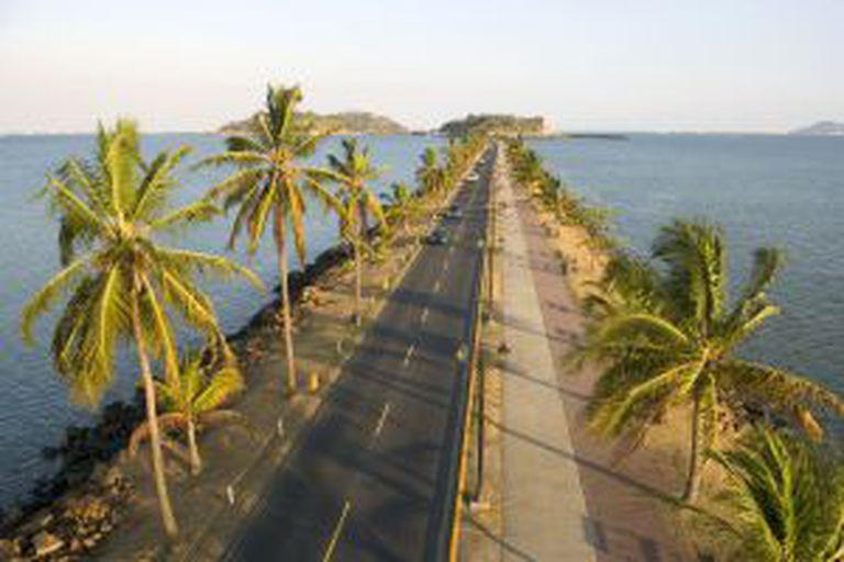 A Estrada de Amador, no Panamá.