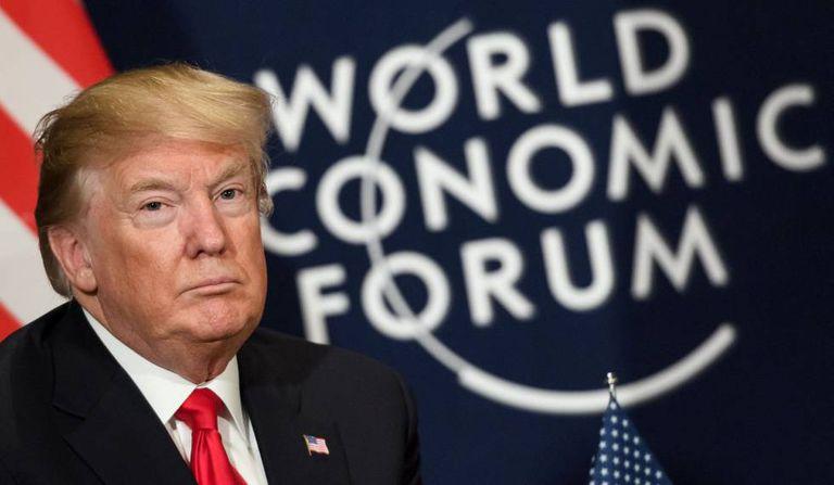 Donald Trump no foro de Davos nesta sexta-feira.