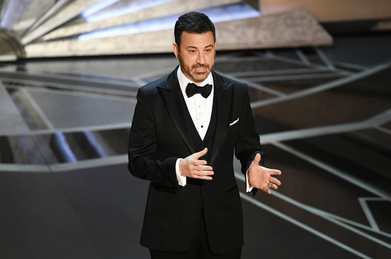 Jimmy Kimmel, durante seu monólogo ao início dos Oscar 2018.