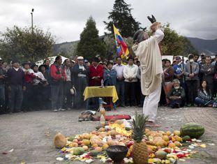 Protestos de indígenas na sexta-feira.