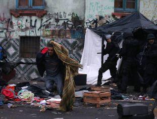 Policiais fizeram uma megaoperação na região da Cracolândia, em São Paulo, no domingo passado.