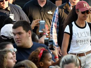 Malia Obama no Festival Budweiser Made in America.