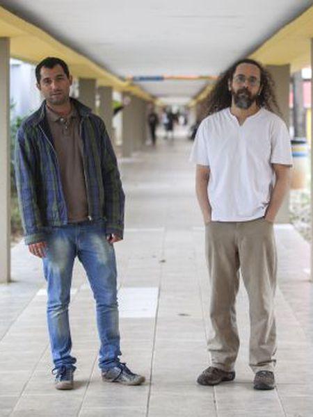 O dirigente da Amorcrusp, Leandro Paixão, e o estudante Josias Padilha.