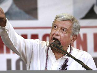López Obrador em um comício em Sonora (México), na sexta-feira.