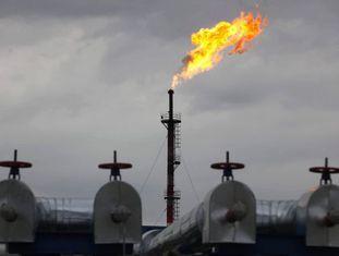 Plataforma de petróleo e gás na Sibéria (Rússia).