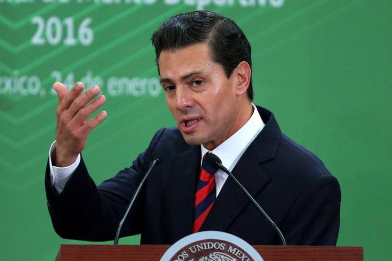 O presidente do México, Enrique Peña Nieto.