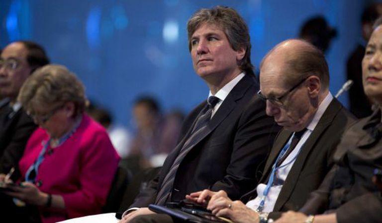O vice-presidente argentino, Amado Boudou, na quarta-feira, na Cúpula do Clima, em Lima (Peru)..