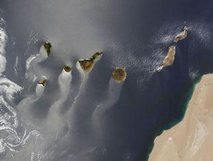 Imagem das Ilhas Canárias tirada pelo satélite 'Earth', no dia 15 de junho de 2013, que foi a ganhadora do segundo concurso de imagens da NASA em que os seguidores da agência espacial na internet elegeram as melhores fotos do ano.