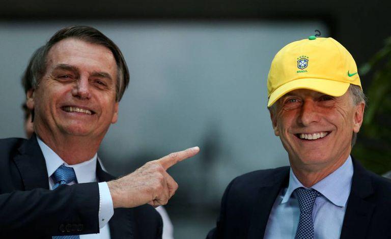 Os presidente Jair Bolsonaro e Maurício Macri.