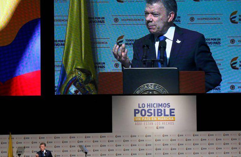 O presidente da Colômbia, Juan Manuel Santos.