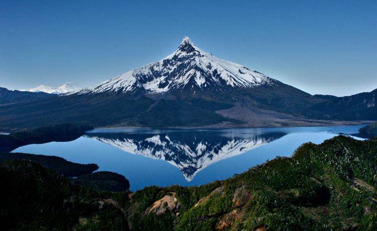 O vulcão Corcovado, na região chilena de Los Lagos.