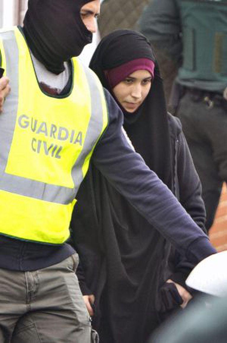 A jovem de 22 anos, presa quando tentava viajar à Turquia.