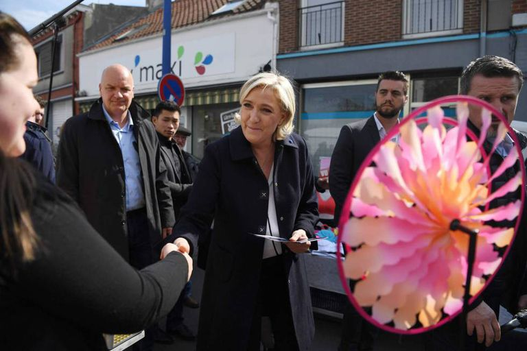 Marine Le Pen, neste domingo em Hénin-Beaumont.