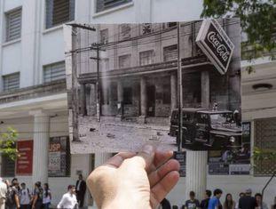 Passado e presente da rua Maria Antonia, em São Paulo. Local foi palco de embate em 1968, ano de endurecimento da ditadura brasileira.