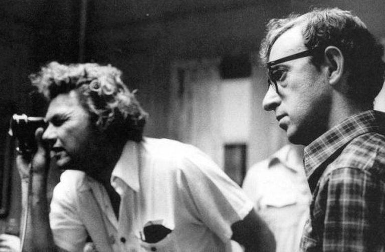 Gordon Willis e Woody Allen durante as filmagens de 'Manhattan'.