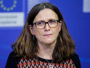 A comissária europeia de Comércio Cecilia Malmstrom.