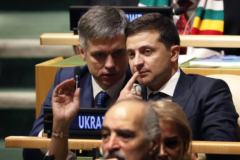 Zelenski na Assembleia Geral da ONU, nesta terça-feira em Nova York.