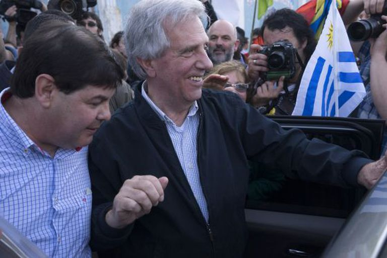 O candidato à presidência do Uruguai, Tabaré Vázquez.