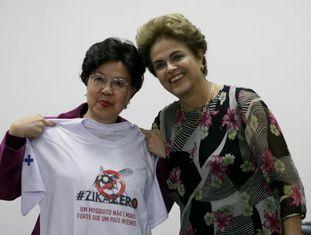 Dilma Rousseff com a diretora da OMS, Margaret Chan.