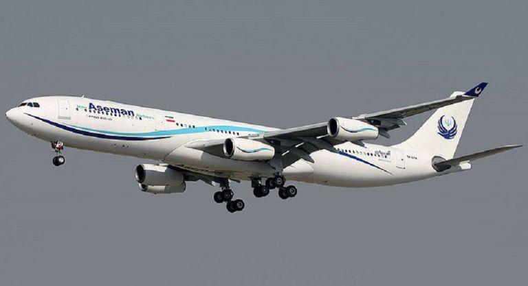 Foto de arquivo de um avião da companhia iraniana Aseman Airlines.