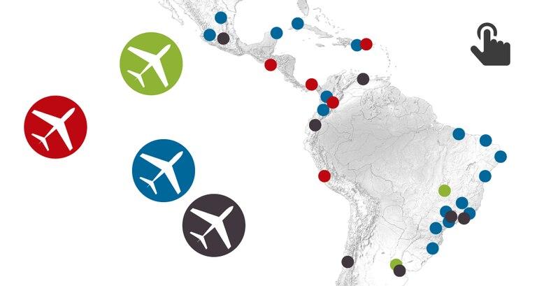 Os números do crescimento do setor aéreo latino-americano