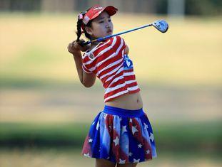 Lucy Li, na primeira jornada do US Open.