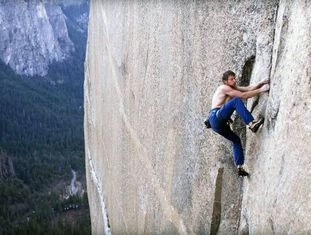Tommy Caldwell, no documentário 'The Push'.