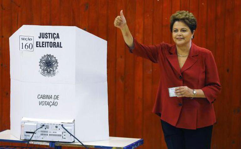 Dilma Rousseff durante a votação.