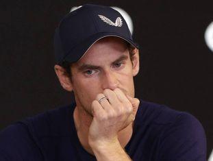 Andy Murray em coletiva de imprensa em Melbourne.
