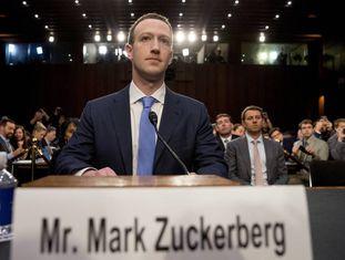 Mark Zuckerberg, em abril, quando prestou depoimento no Congresso dos EUA sobre o caso da Cambridge Analytica.