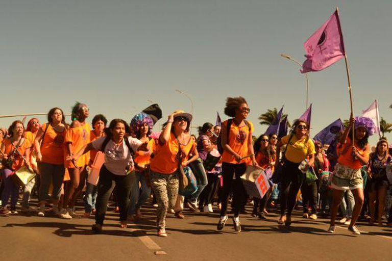 Fuzarca Feminista na Marcha das Margaridas.
