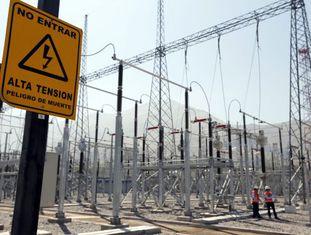 Subestação elétrica El Salto no Chile.