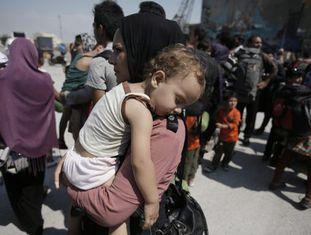 Refugiados, a maioria da Síria, na Grécia.