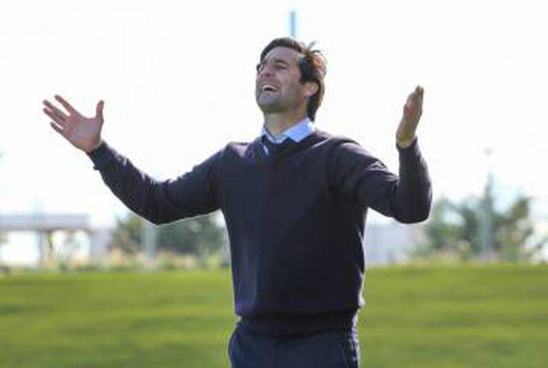 Santiago Solari, em um jogo do Castilla.