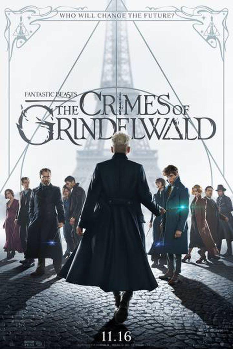 Pôster de 'Animais Fantásticos: Os Crimes de Grindelwald'.
