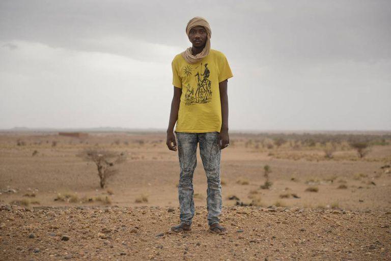 Adam Souleyman, nigerino, foi escravo na Líbia durante cinco meses.