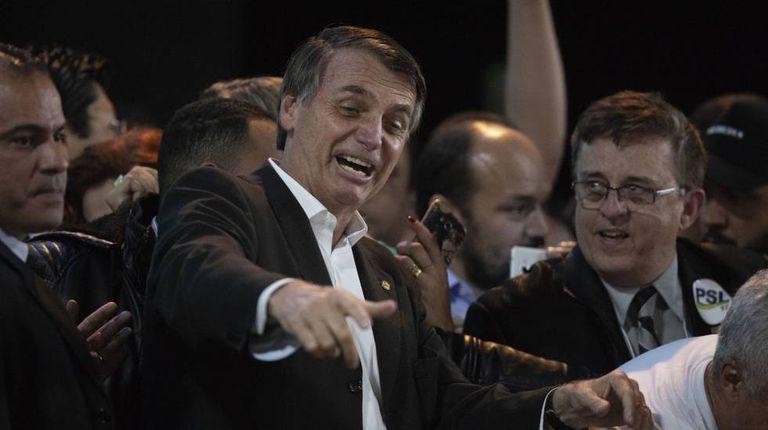 Jair Bolsonaro, no dia 5, em São Paulo.