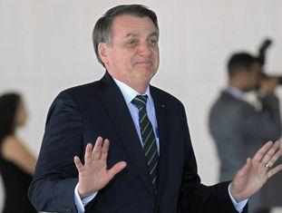 Jair Bolsonaro no Itamaraty no dia 14.