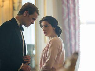Matt Smith e Claire Foy, em 'The Crown'.