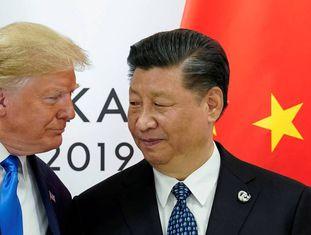 Os presidentes dos EUA, Donald Trump, e da China, Xi Jinping, na cúpula do G20 em junho, em Osaka (Japão).