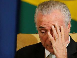 O presidente Michel Temer, nesta segunda-feira em São Paulo.