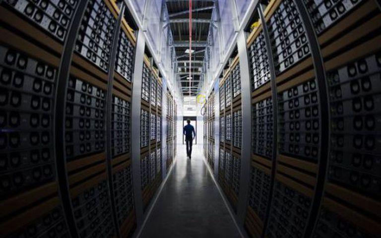 Centro de armazenamento de dados.