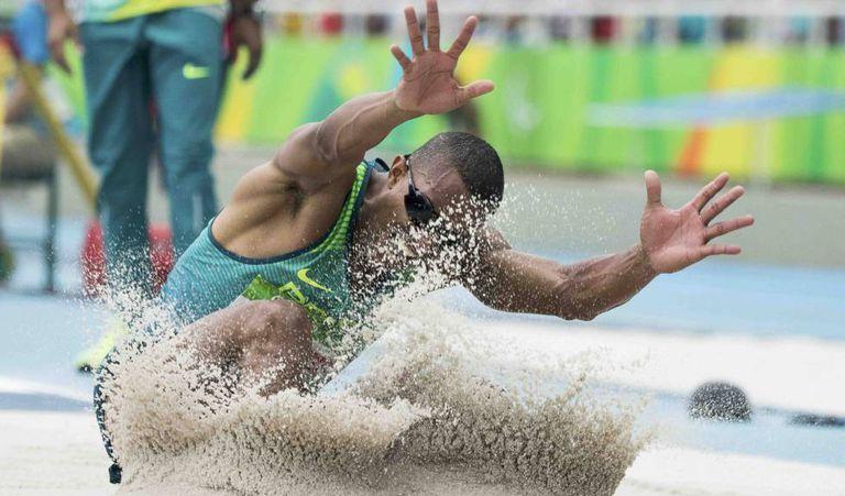 Ricardo Costa, medalha de ouro no salto.